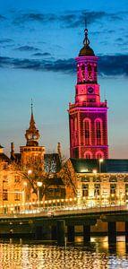 Tour Neuve à Kampen dans la soirée