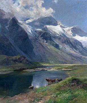 Bei Kaprun - Mooserbodental mit Blick auf den Karlinger Gletscher, EDWARD THEODORE COMPTON, 1916