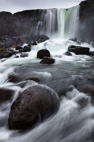 De Öxará rivier en de Öxarárfoss waterval