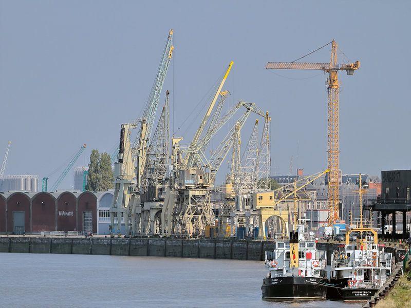Havenzicht op de Schelde, Antwerpen sur Ronald Smits