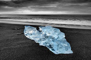 IJsvorm op het lavastrand van Sjoerd van der Wal