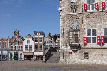 Hôtel de ville avec marché de Gouda sur Hermen Buurman
