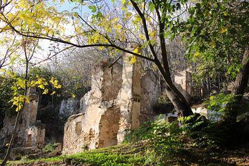 Ruinen in Fuentes de Cesna Spanien von Jan Katuin