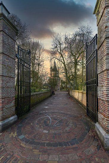 De 15e-eeuwse Bourgondische toren van Wijk bij Duurstede (NL)