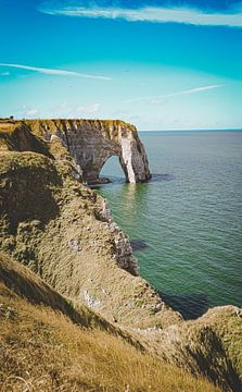 De kliffen van Étretat, Normandië, Frankrijk (2) van Daphne Groeneveld