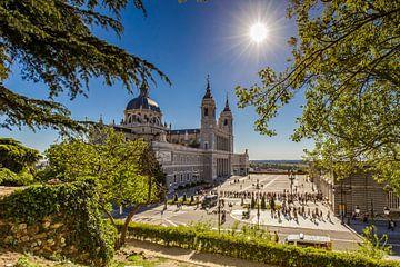 Almudena Kathedraal in Madrid van Easycopters