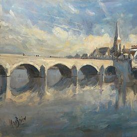 Winterlicht Sint Servaasbrug Maastricht sur Nop Briex