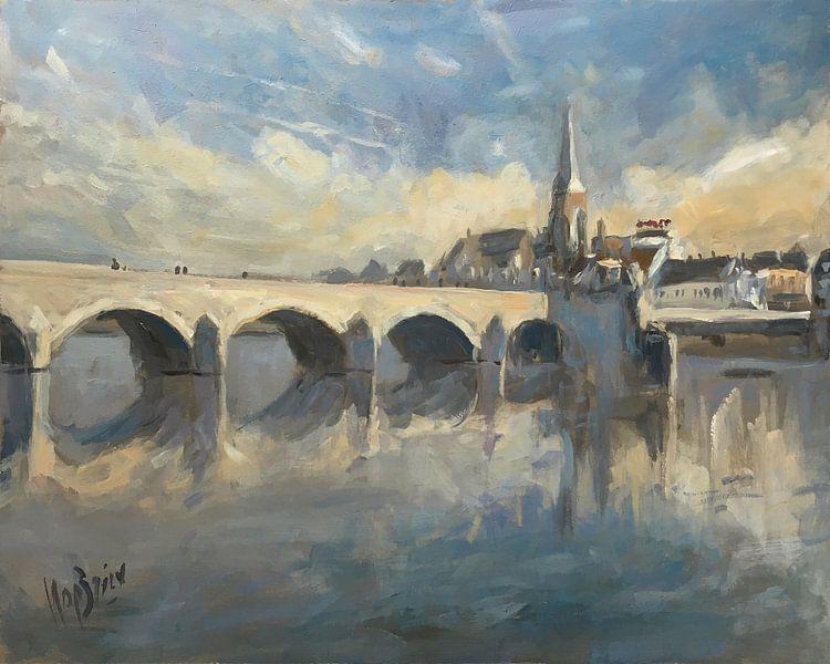 Winterlicht Sint Servaasbrug Maastricht van Nop Briex