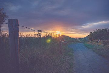 Prachtige zonsondergang boven de Hollandse duinen van Fotografiecor .nl