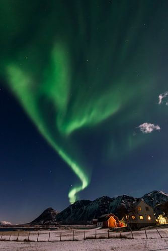 Noorderlicht over de Lofoten van