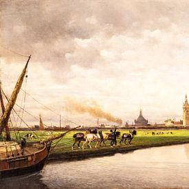 Oude Meester in de Schilderkunst, gezicht op Den Haag, Lorenzo Delleani van Mark de Weger