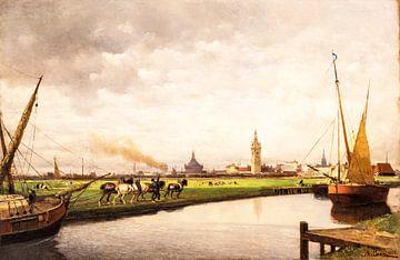 Altmeister der Malerei, Blick auf Den Haag, Lorenzo Delleani von Mark de Weger