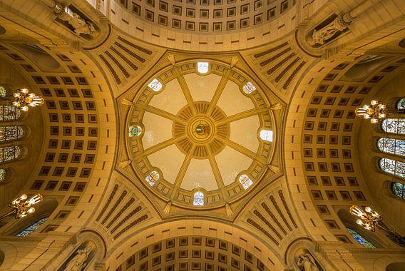 Het plafond in het stadhuis van Rotterdam van MS Fotografie