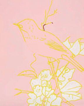 Bird on a Branch van David Potter