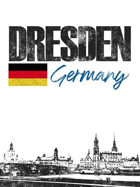 Dresden Duitsland van Printed Artings