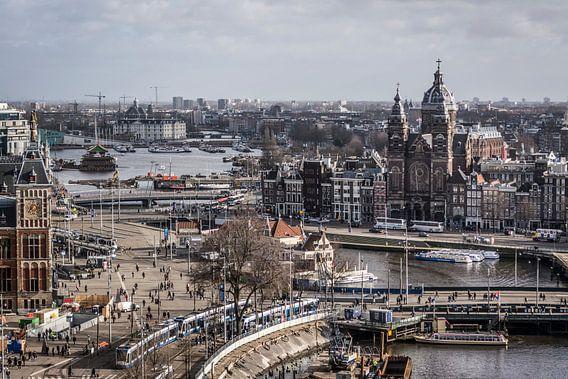 Amsterdam up high.