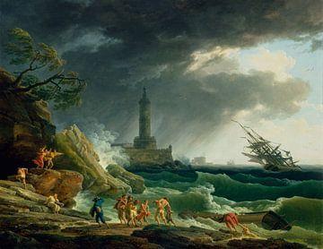 Sturm an einem Mittelmeerhafen, Claude-Joseph Vernet