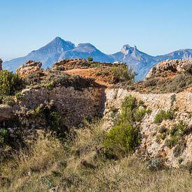 Ruinen einer alten Festung in den Bergen von Montepuro