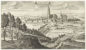 Gezicht op Amersfoort, Gaspar Bouttats, naar Jacob Peeters, 1679