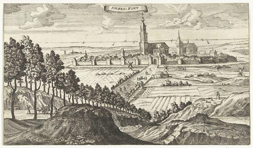 Gezicht op Amersfoort, Gaspar Bouttats, naar Jacob Peeters, 1679 van Marieke de Koning