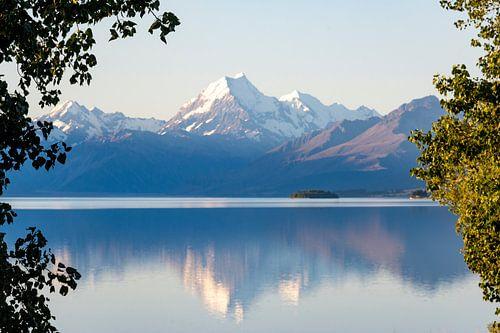 Reflectie van Mount Cook