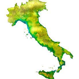Italie | Carte à l'aquarelle sur Wereldkaarten.Shop