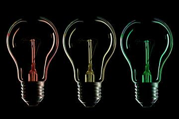 Lampensilhouette und Farbe 1 von Tanja van Beuningen