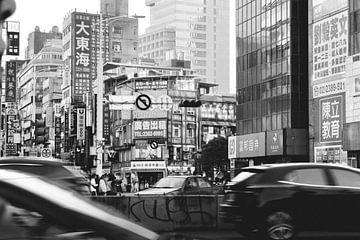 Straße in Taipeh, Taiwan. von Erik Juffermans