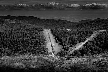Zwart wit Landschap van Pieter de Kramer