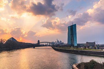 Die letzten Sonnenstrahlen an der EZB von Christian Klös