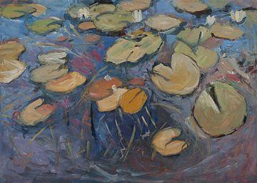 Waterlelies VI van Nop Briex