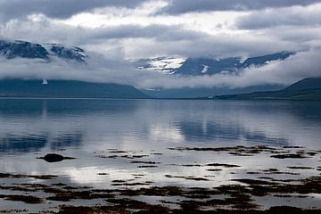 Fjord op IJsland: Bergen, water, lucht van Anne Ponsen