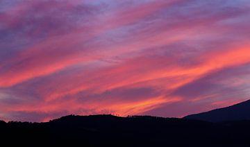 Muur foto zonsondergang van Marc tanger