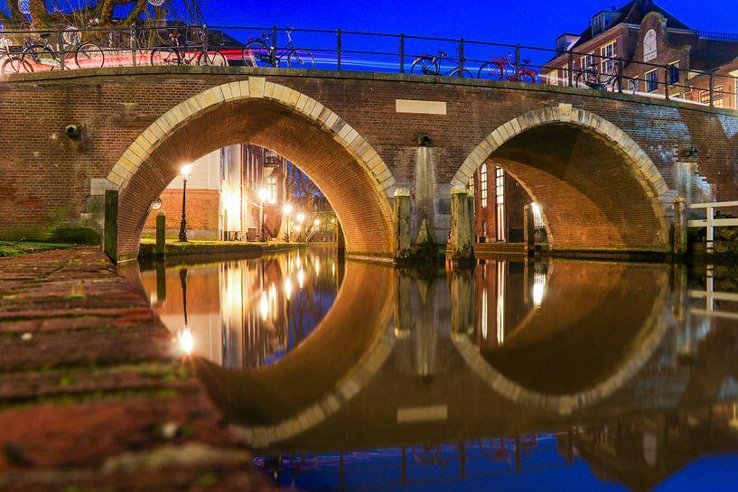 Vollersbrug over de Oudegacht Utrecht van Arthur Puls Photography