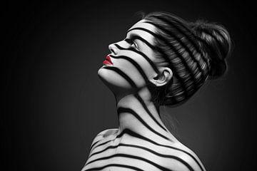 Zebra im Profil von Arjen Roos