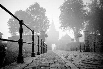 Sfeervolle entree op mistige morgen van Fotografiecor .nl