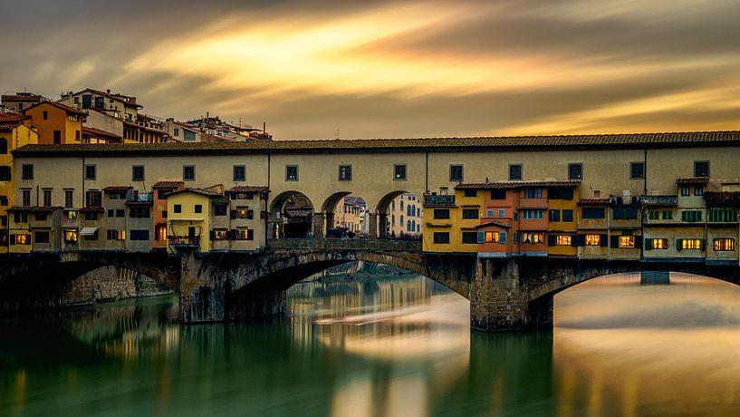 Ponte Vecchio - Florenz - Langzeitbelichtung I von Teun Ruijters