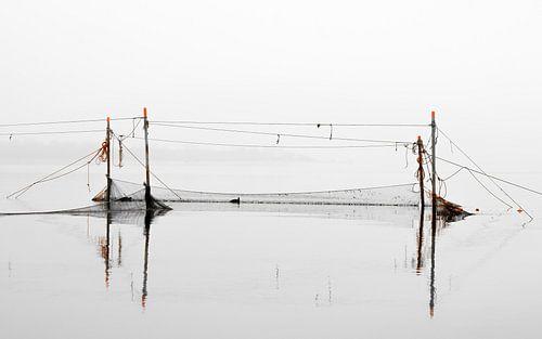 Filets de pêche sur le Veerse Meer sur
