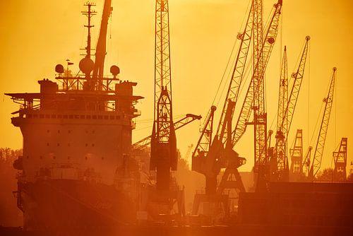 Hafen von Rotterdam von Nico Garstman