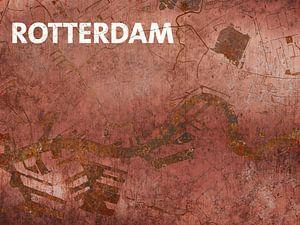 Carte de l'eau à Rotterdam
