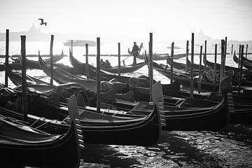Gondeln am Markusplatz Venedig von Karel Ham