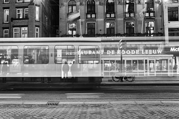 Ghost Tram - Damrak Amsterdam van Thomas van Galen