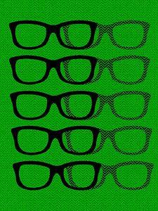 Glasses Black & Green