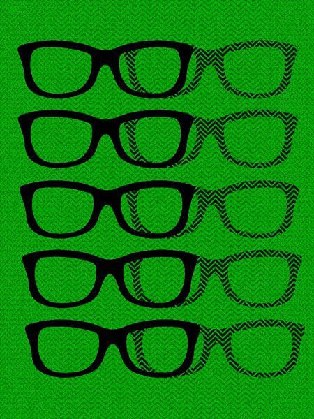 Glasses Black & Green van Mr and Mrs Quirynen