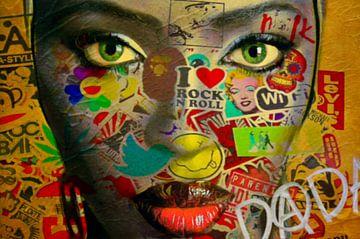 Naomi Campbell Dadaismus van Felix von Altersheim