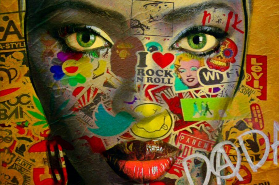 Naomi Campbell Dadaismus von Felix von Altersheim