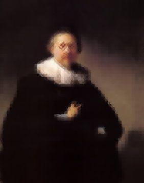 Rembrandt Portret van een Man met blokken