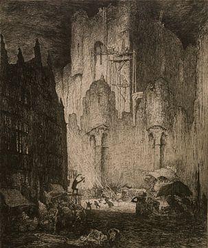 Schloss der Grafen in Gent, Jules Bruycker, 1913