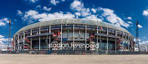 Stadion Feyenoord ofwel De Kuip. Panorama in kleur.