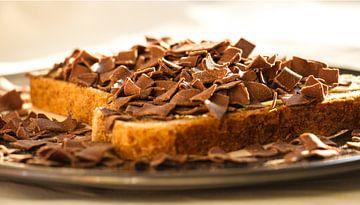 Broodje Chocolade vlokken van Rob Hermanns Photography